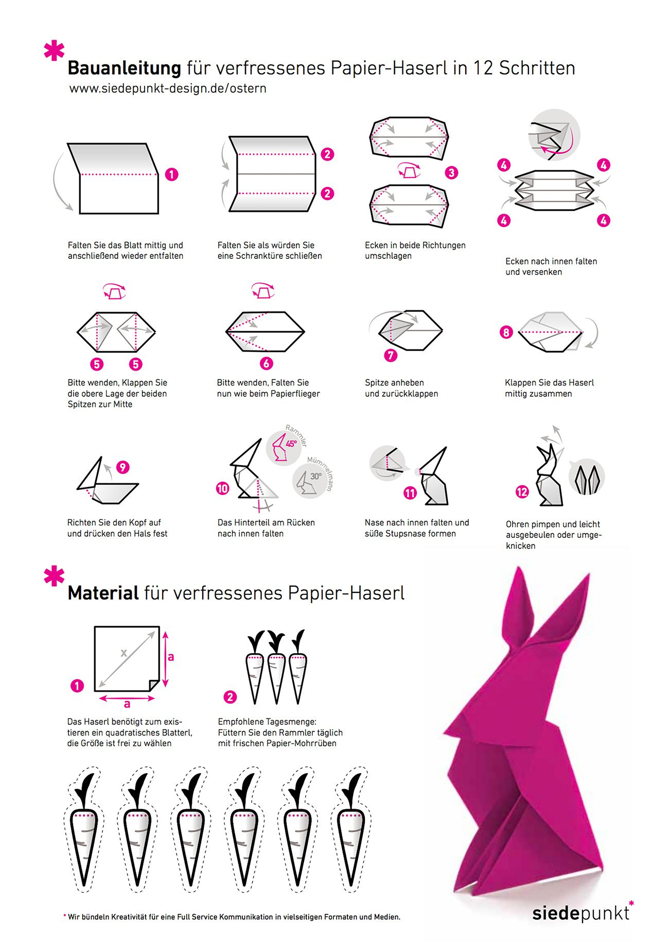 """Ostermailing """"Origami-Osterhase"""" 1"""